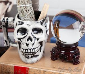 Rancho Bernardo Antiqued Skull Mug